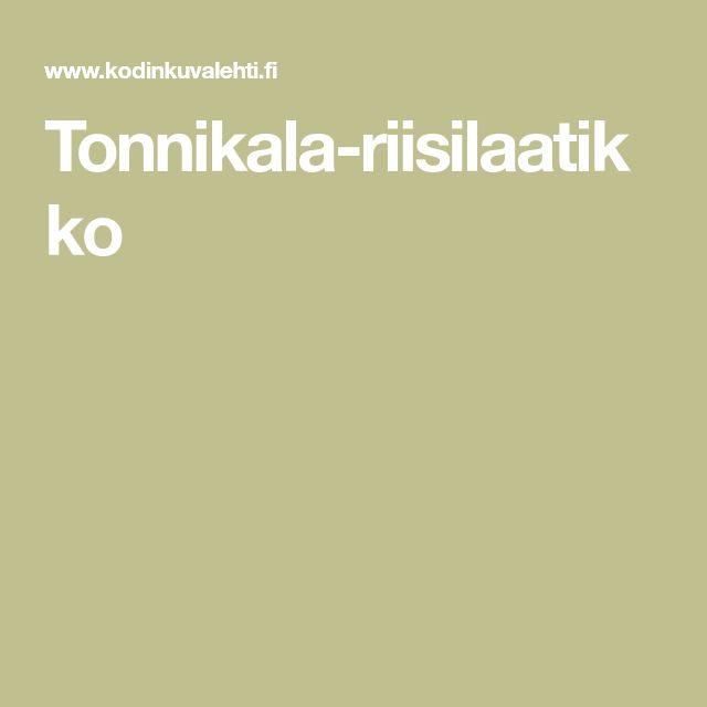 Tonnikala-riisilaatikko