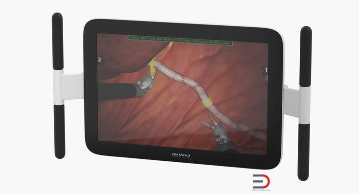 Hospital Monitor Wall Mount Arm 3D