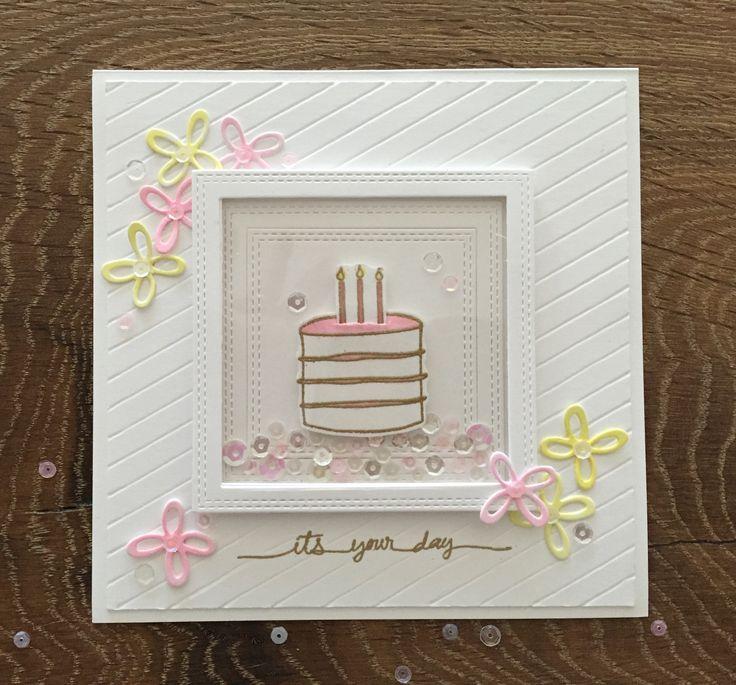 Скрапбукинг открытка торт