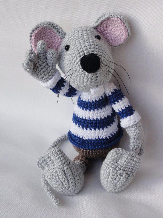 Rumini der Maus  Amigurumi Häkeln Muster von IlDikko auf Etsy, $5.20 crochet mouse pattern
