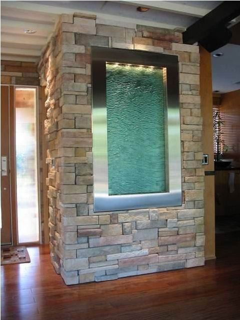 Fuente de agua de pared interior inspiraci n pinterest for Cascadas y fuentes de agua para jardin