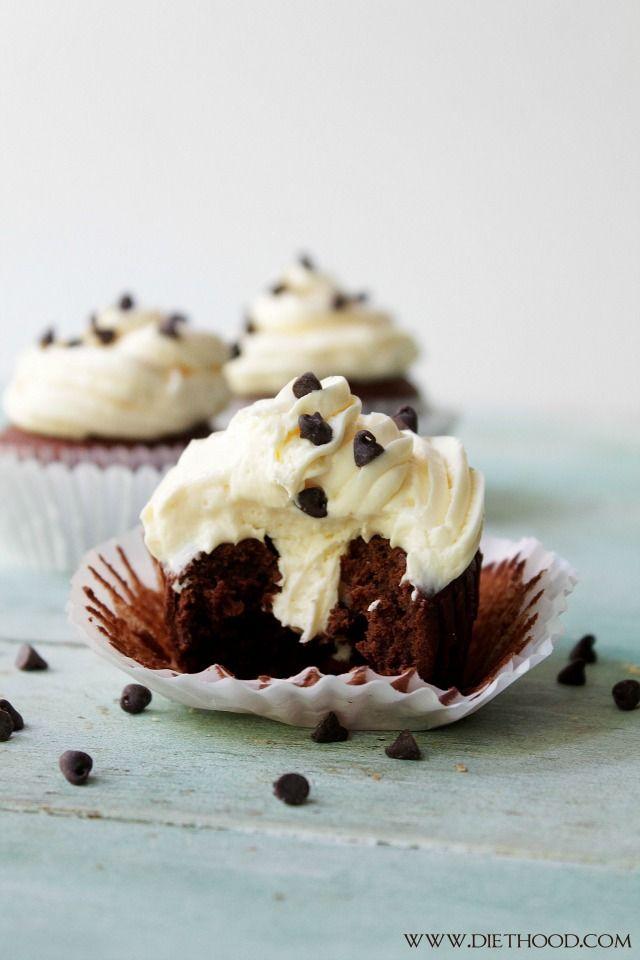 Chocolate Cinnamon Cheesecake Cupcake Recipe - A Night Owl Blog