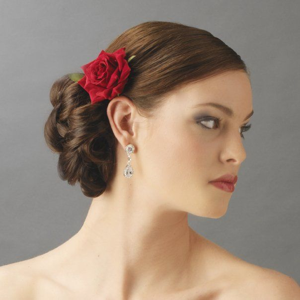 Bridal Hairstyle With Rose : 127 best wedding hair and make up images on pinterest