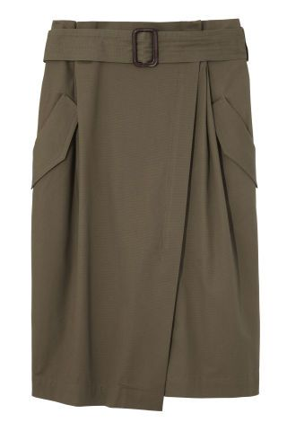 The best army-inspired pieces of the season: Banana Republic skirt.