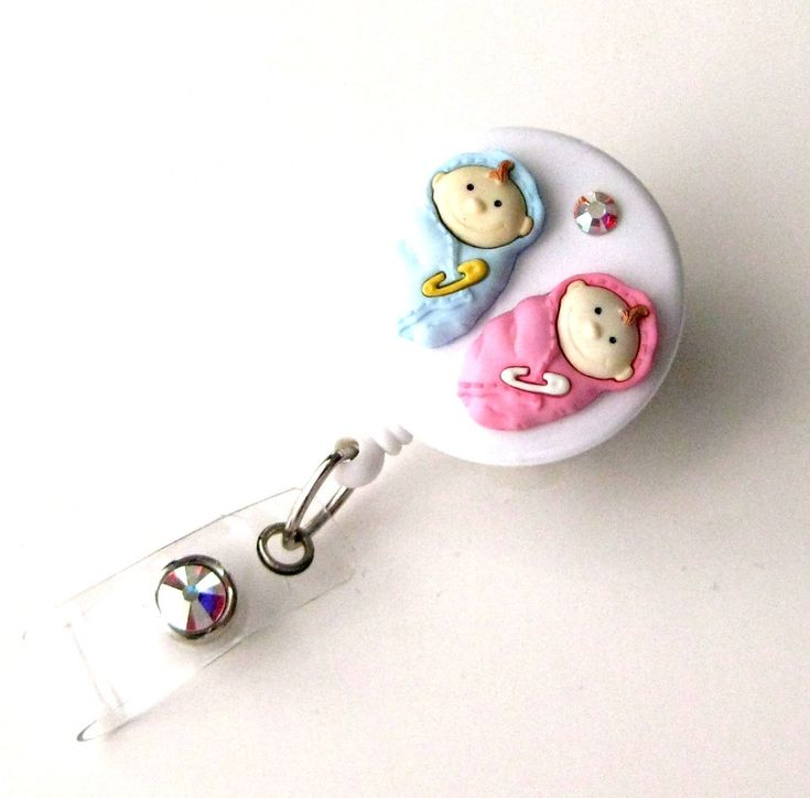 Midwife Gift  Retractable ID Badge Reel  Decorative by BadgeBlooms, $14.00