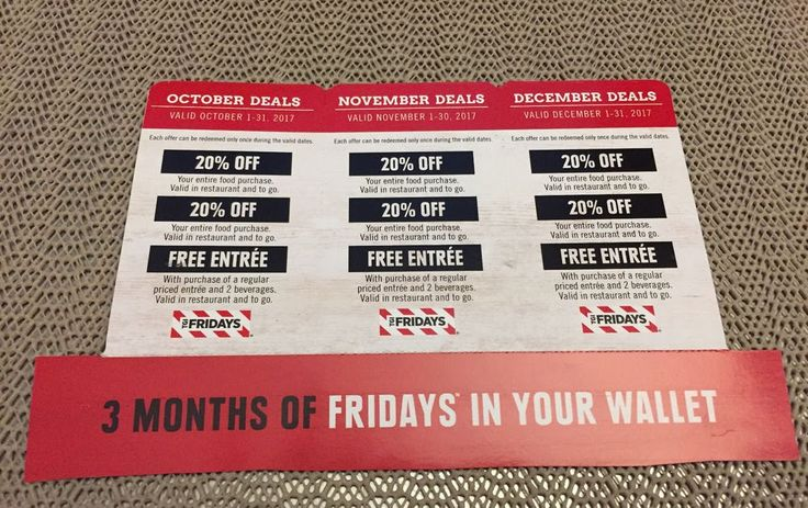 TGI Fridays Restaurant Coupons - October November December 2017 Deals