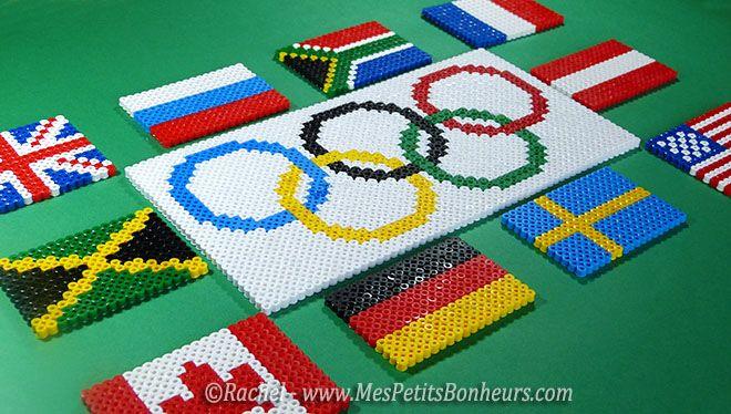 perles hama drapeaux pays jeux olympiques