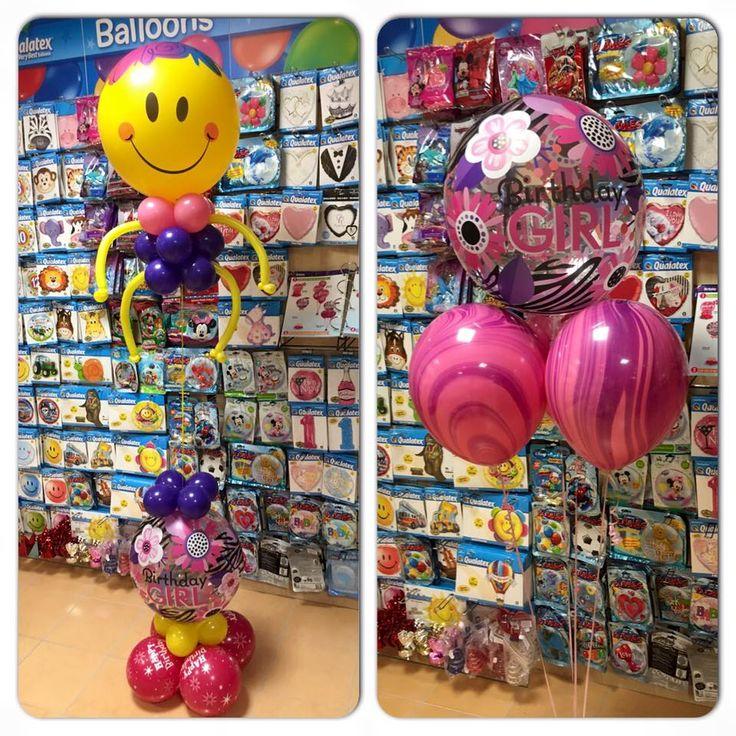 Lányos szülinapi lufi design.  #birthdaygirl #qualatex #balloon #birthday #születésnap #lufi
