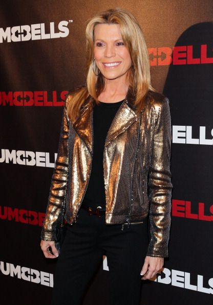 Personality Vanna White attends the 'Dumbbells' premiere at SupperClub Los Angeles on January 7 2014 in Los Angeles California