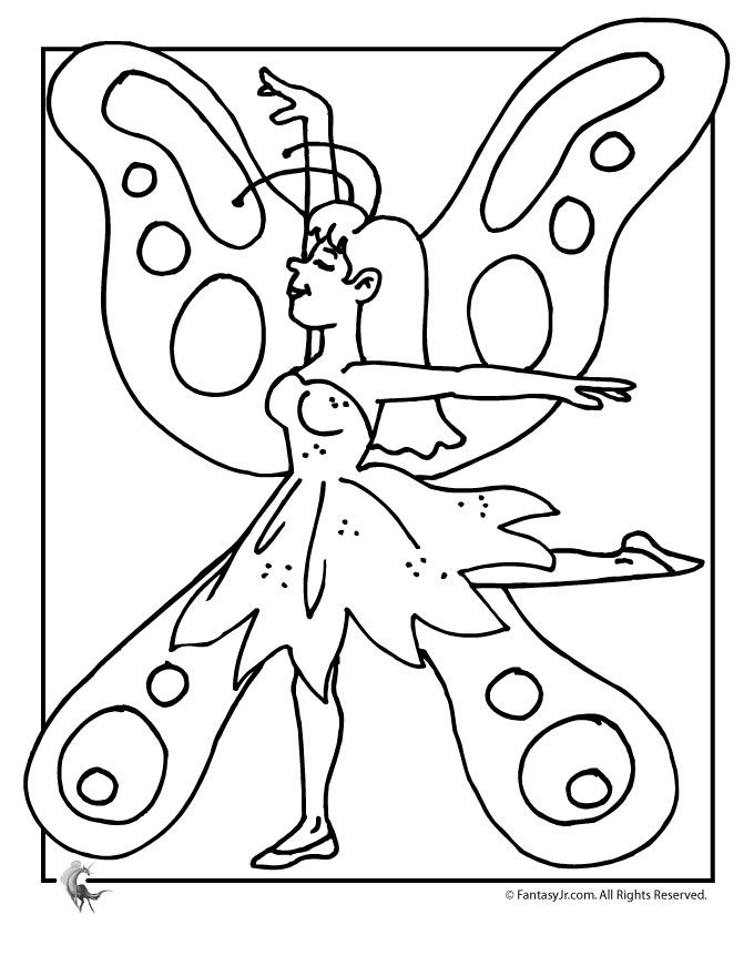 Hello Kitty Fairy Coloring Pages