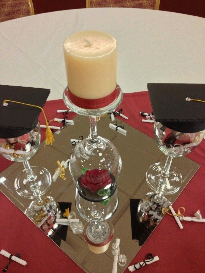 25 best ideas about centros de mesa graduacion on - Como decorar una mesa para una cena ...
