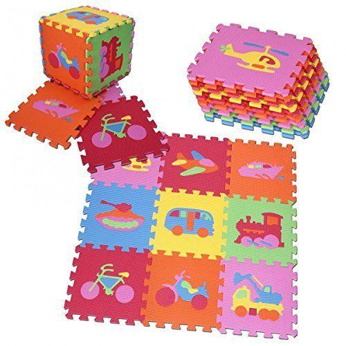 Puzzlematte 6er Set - Bodenschutzmatte - 183,5 x 123,5cm Spielmatte Sportmatte Spielteppich