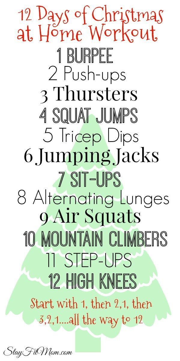 At home workout with no equipment needed!
