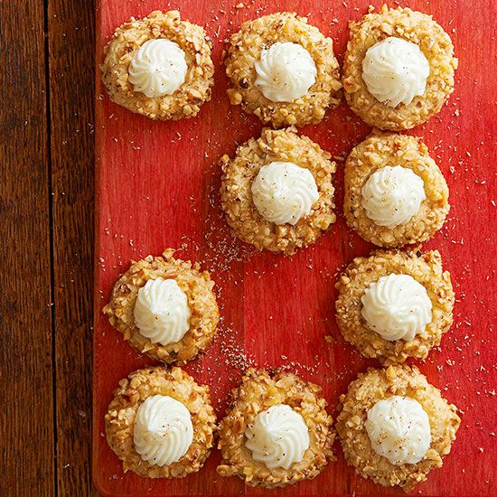 Eggnog can taste good in a cookie, too! Try these Eggnog-Nut Thumbprint cookies in your baking line-up for the holidays.