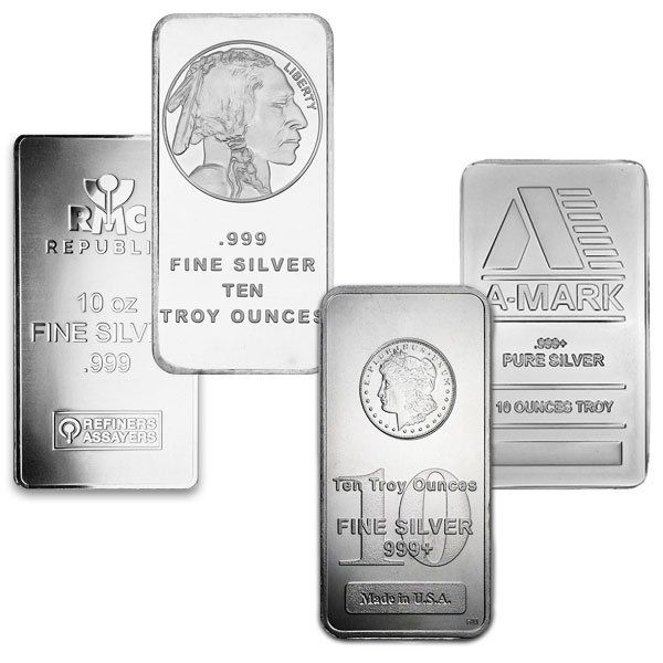 10 Oz Silver Bars For Sale 10 Troy Weight Bullion Money Metals Exchange Silver Bars Pure Products Silver