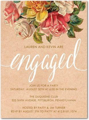 21 best engagement invites images on Pinterest Engagement party - how to word engagement party invitations