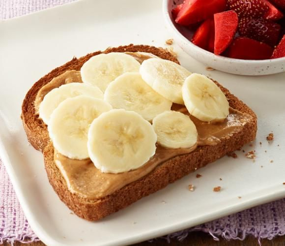 PB and Banana Toast -- already something I've liked for breakfast, so i might as well get back into it!