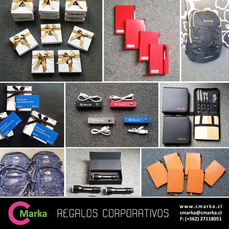 ¿Buscas regalos corporativos? En CMarka tenemos gran variedad de regalos. Agendas, mochilas, linternas, chocolates, sets especiales ¡y mucho más! Cotiza directamente en nuestro Facebook o si prefieres en: Tel. (2) 2711 8051 - cmarka@cmarka.cl Entra en nuestro sitio para más detalles www.cmarka.cl #regaloscorporativos #regalos