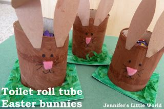 Jennifer's Little World blog - Parenting, craft and travel: Craft - Easter bunny egg holders from toilet roll tubes