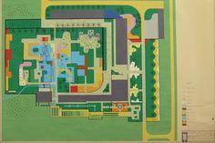 Gouache painting of a design for the garden of the Clemente Gomes residence, Fazenda Vargem Grande, Areias