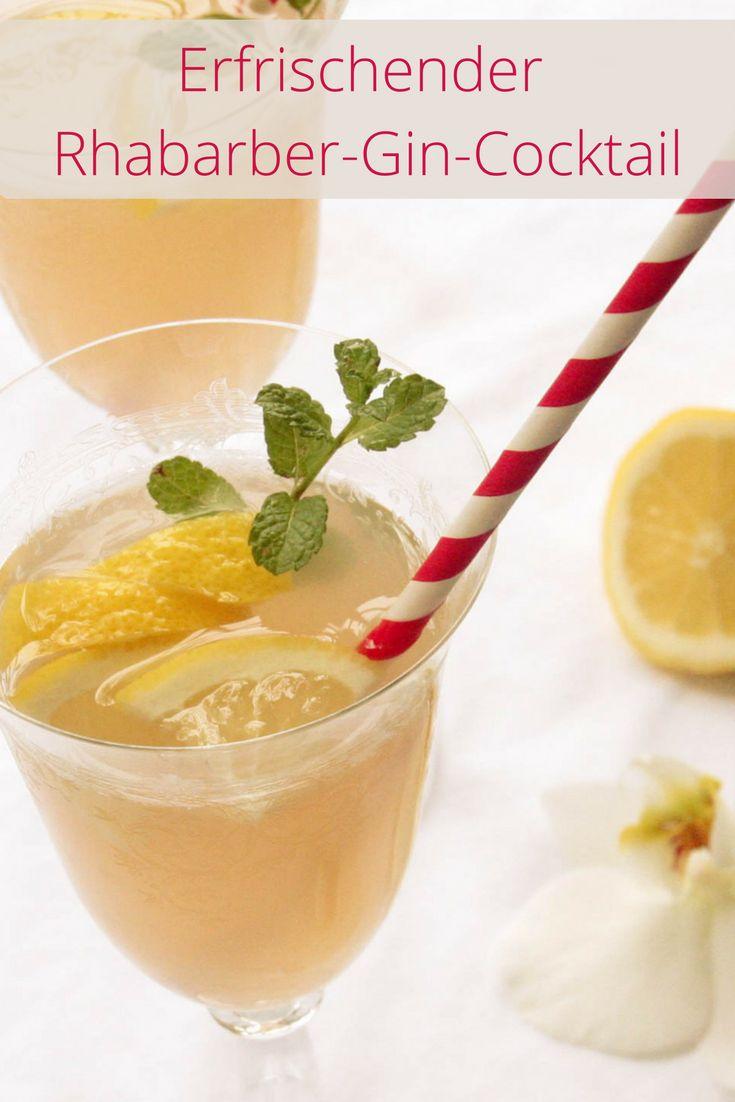 Erfrischender Rhabarber-Gin-Cocktail für den Frühling