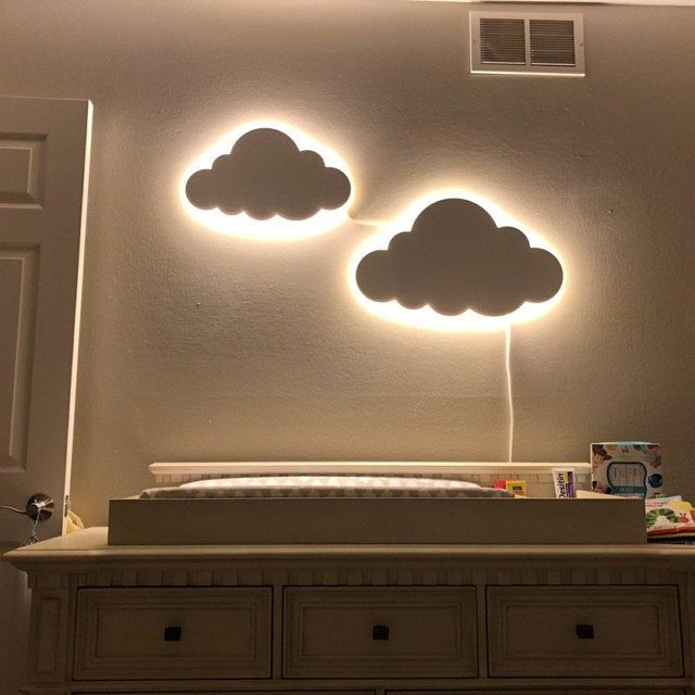 Cloud Night Light Wood Kids Lamp Baby Room Led Lamp Nursery Etsy In 2020 Kids Lamps Cloud Night Light Childrens Bedside Lamp
