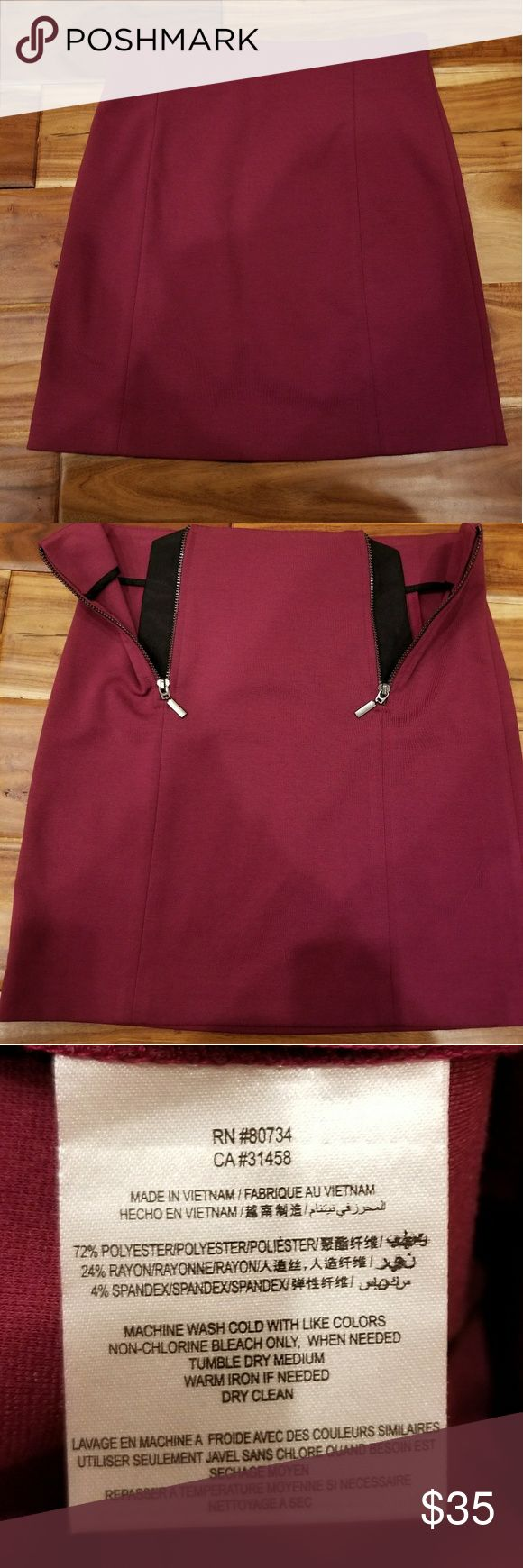 NWT BCBGeneration Front Zipper Mini Skirt This gorgeous mini is brand new waiting for the right owner. It has two front zippers and lays just above the knee. Never been worn! Enjoy! BCBGeneration Skirts Mini