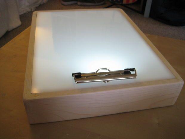 diy drawing light box 2