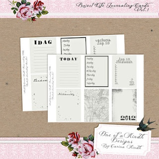 Project Life journaling cards I