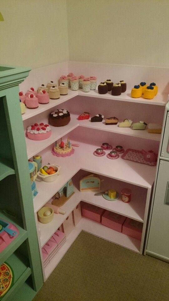 Cafe Bakery pretend play  pretend store  Playroom Diy