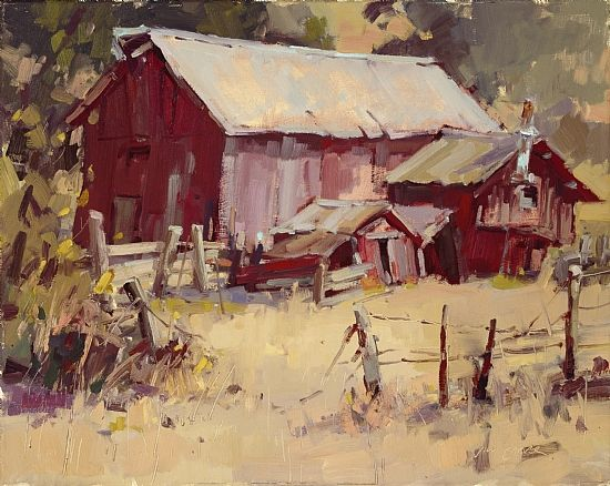 Still Standing by Jill Carver Oil ~ 16 x 20  love barns