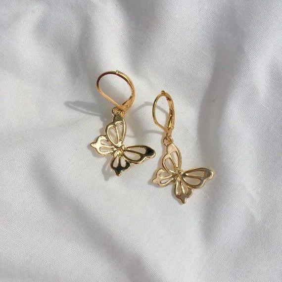 Summer butterfly earrings