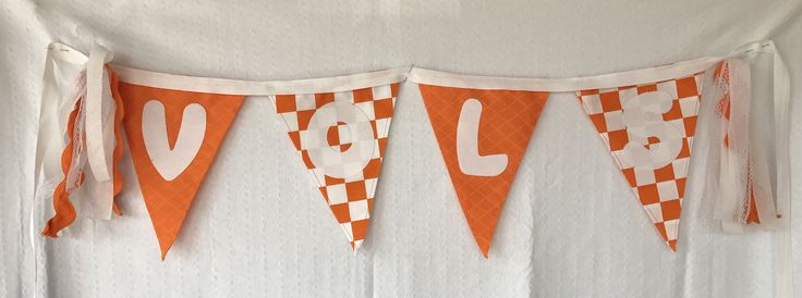 Tennessee College Banners by ALittleFrayedDesigns on Etsy https://www.etsy.com/listing/522884208/tennessee-college-banners