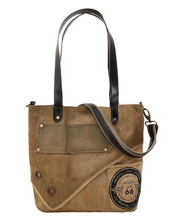 Love this Route 66 Recycled Military Tent Tote on #zulily! #zulilyfinds