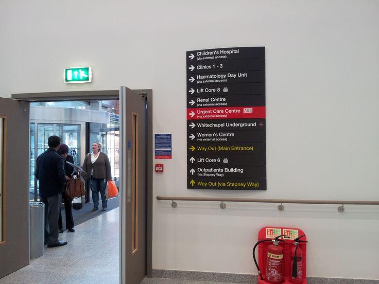 Signage at the Royal London Hospital