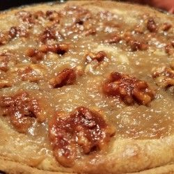 Caramel Walnut Cheezecake: This New York bakery-style cheesecake will get you award-winning results with it's caramel walnut topping. Heavenly pleasing, this sugary confection is fit-for-the-gods! You will be hard pressed to find a better vegan cheesecake recipe.