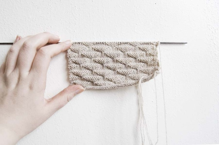 minimal knitting swatch