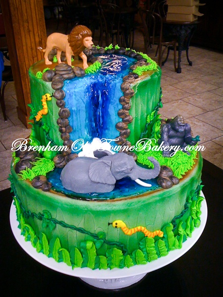 waterfall cake from brenham's olde towne bakery