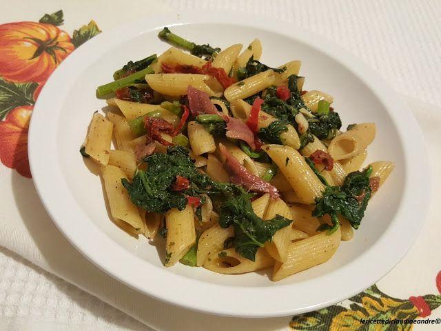 Le    ricette    di    Claudia  &   Andre : Pasta con cime di rapa, pomodorini secchi e alici ...