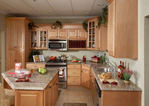 Light Cherry Wood Kitchen Cabinets