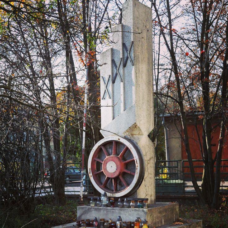 Łuków. Pomnik Poległych Kolejarzy.