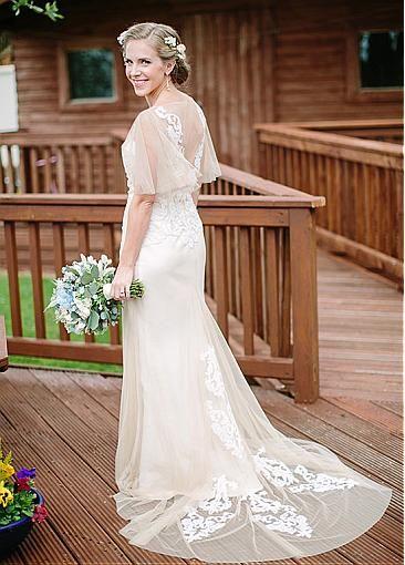 Sheer details wedding dress