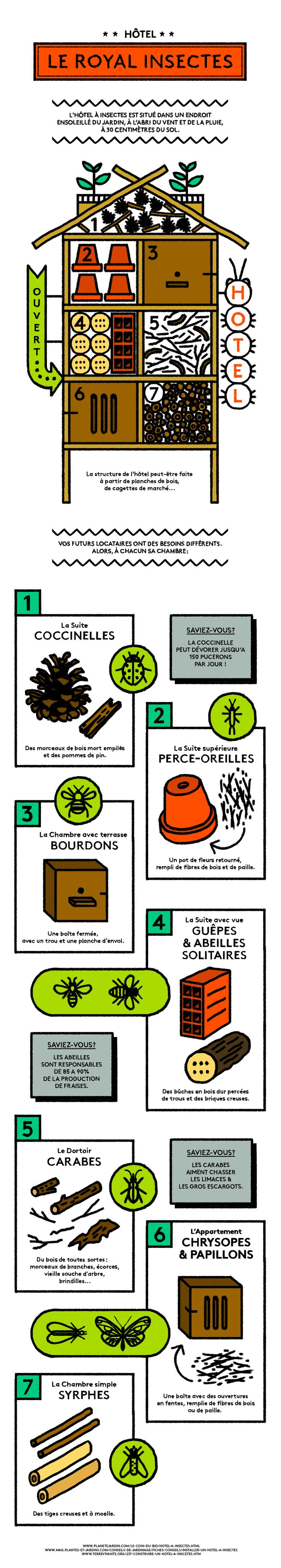 Pour profiter des bienfaits des insectes sur votre jardin pendant l'été, rien de tel que de leur offrir un refuge pendant l'hiver.