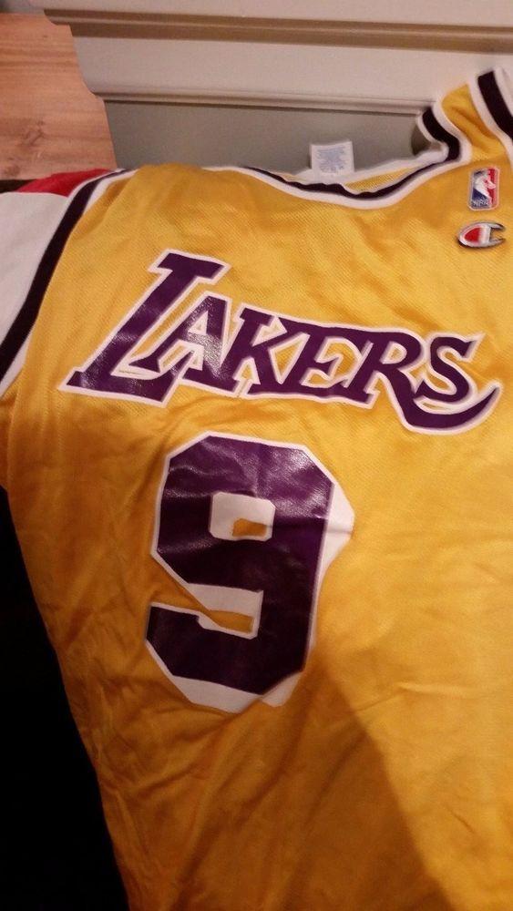 ... Cards Nick Van Exel Vintage Jersey Sz 48 Champion Los Angeles Lakers NBA  Rare Champion ... 5d89e2447