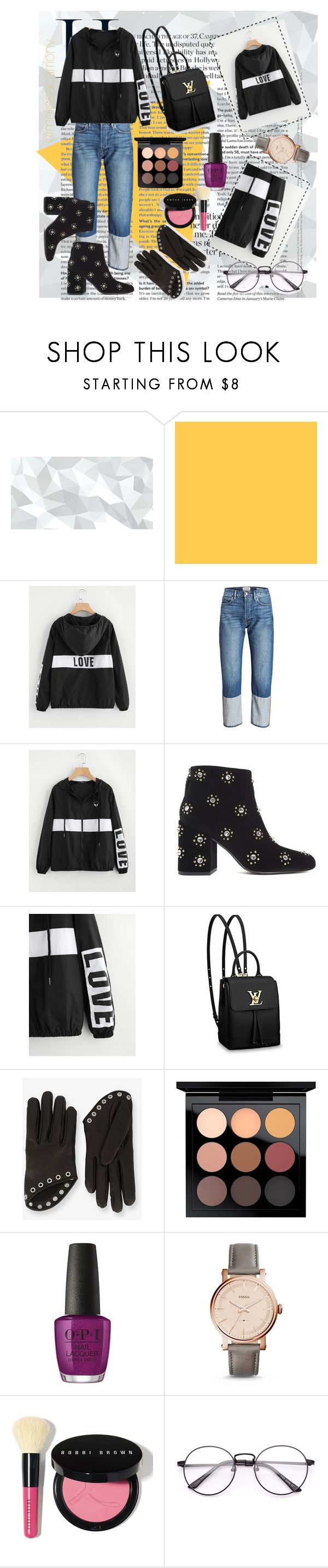 """""""Autumn- Black Sport Outfits"""" by melissa-cv-1 ❤ liked on Polyvore featuring Senso, Louis Vuitton, Alexander McQueen, MAC Cosmetics, OPI, FOSSIL and Bobbi Brown Cosmetics"""