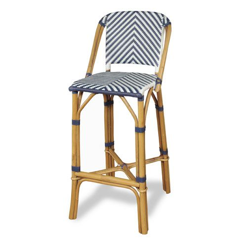 Rum Point Rattan Bar Stool Navy Progressive Furniture Bar Height (28 To 36 Inch) Bar Sto