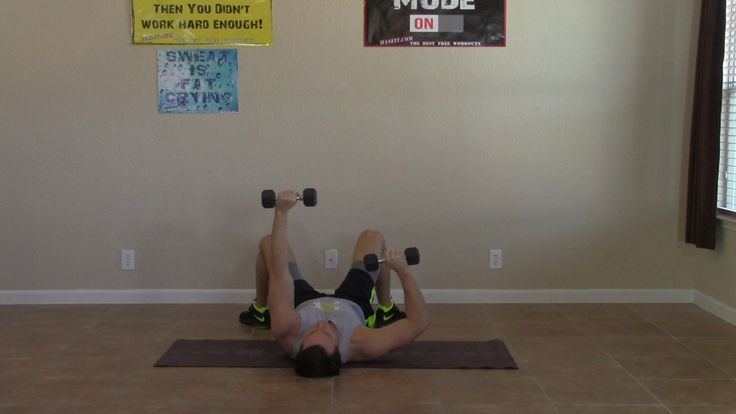This 10 minute home chest and triceps workout is an intermediate difficulty routine. HASfit's home chest and triceps workouts are suitable for both men and women. The chest and triceps exercises only require a pair of dumbbells.
