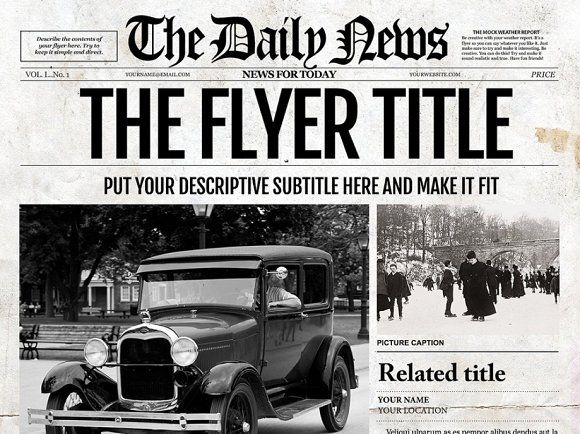 Illustrator newspaper template front by newspaper templates on illustrator newspaper template front by newspaper templates on creativemarket newspaper template pinterest newspaper illustrators and templates pronofoot35fo Image collections