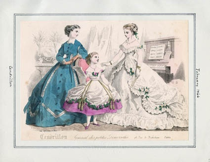Title:Cendrillon  Item Date:February, 1866: 1860S Style, Fashion Plates, 1860S Fashion, Plates 18601869, Title Cendrillon, Cendrillon 10, Day Dresses, Public Libraries, Childrenswear 1860S