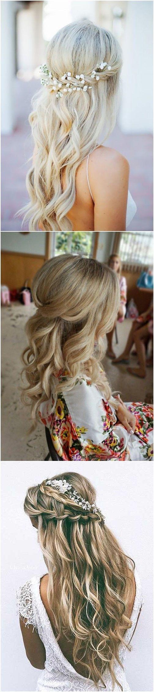 20 Half Up Half Down Wedding Hairstyles Anyone Would Love